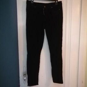 Paige Verdugo Ultra Skinny Black velvety jeans